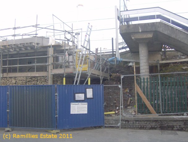 View of Cheadle Hulme Station Upgrade on Platform 1